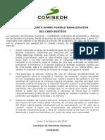 [PR] COMISEDH alerta sobre posible banalización del Caso Bustíos
