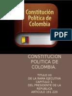 Constitucion Politica. Art 191