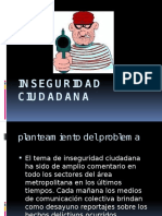 Inseguridad ciudadana diapositivas