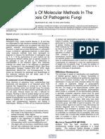 Comparisons of Molecular Methods in the Diagnosis of Pathogenic Fungi