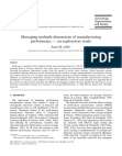 Managing multiple dimensions of manufacturing performance — an exploratory study