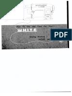 White Sewing Machine Manual Model 967