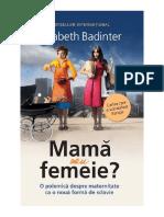 Mama Sau Femeie .o Polemica