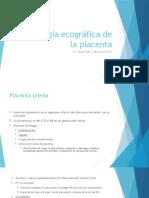 Patologia ecografica comun de la placenta