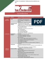 Fiche Résumé Biochimie La Traduction Www.sba-medecine.com