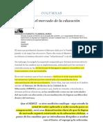 GONZALO OYARZÚN Y GABRIEL BORIC-El SIMCE y el mercado de la educación