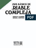Análisis básico de variable compleja