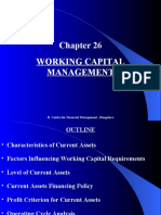 Chapter 26 Working Capital Management