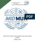 Protocolo Oficial MIDMUN-2014