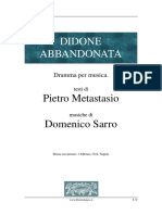 Didone Abbandonata - Metastasio