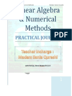 Linear Algebra and Numerical Methods Practical Programs by Dk Mamonai