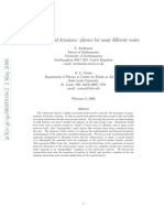 Relativistic Fluid Dynamics Physics for Many Different Scales