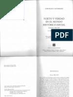 Sujeto y Verdad - Castoriadis