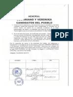 MEMORIAL JUSTINIANO Y VERONIKA CANDIDATOS DEL PUEBLO
