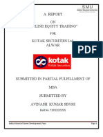 Summer Project on Kotak Securities