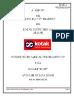 Summer Project on Kotak Securities