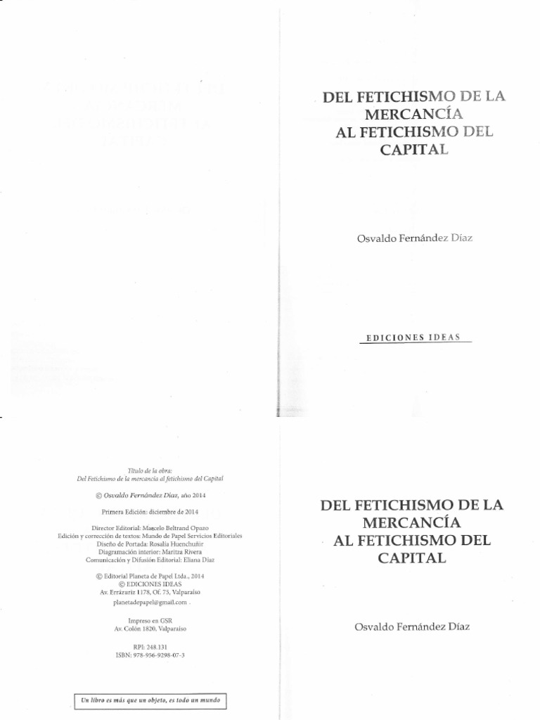 Fernández O_Del fetichismo de la mercancía al fetichismo del capital