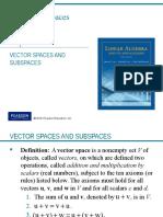 Algebra Lineal 1 Espacios Vectoriales