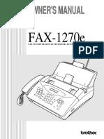 Brother Intellifax 1270e Fax Machine