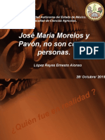 presentación José María Morelos y Pavón.