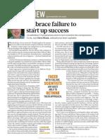 Embrace failure to start up success