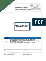 Manual Avaluo Maquinaria y Equipo