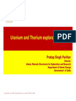 Uranium and Thorium Exploration in India