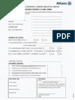 2. Windscreen Report Claim Form