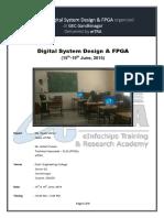 Workshop on Digital Design With FPGA Organized by EiTRA