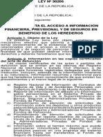 Ley 30205, Pub 11 Jun 2014, Información Financiera