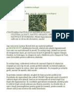 Cultivarea Năutului În Sistem Ecologic