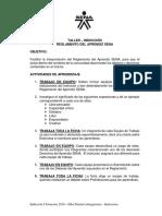 TALLER - Reglamento Del Aprendiz