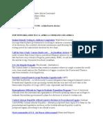 AFRICOM Related News Clips April 13, 2010.
