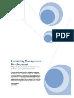 Evaluating Management Development