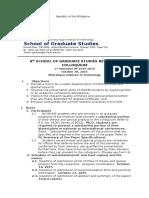 SGS Guidelines 8th Colloquium