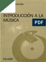 Aharonián - Introducción a La Música