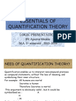 Essentials of Quantification Theory