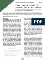 Compositions of Leaves and Seeds of Aervajavanica Burmf Juss Ex Ja Schultes
