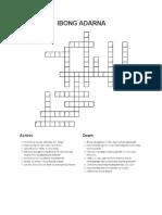 Ibng Adarna Crossword Puzzle