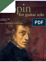 Chopin Fr 233 d 233 Chopin for Guitar - Arr. Jozsef Eotvos