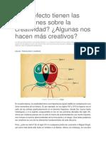 Qué Efecto Tienen Las Emociones Sobre La Creatividad