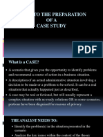 Guide to the Preparation of a Case Study