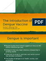 The Introduction of Dengue Vaccine
