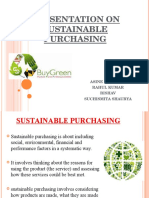 Presentation on Sustainable Purchasing Comp