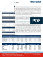 A study on the Market Insights by Mansukh Investment and Trading Solutions 13/4/2010
