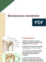 Biomecanica membrelor