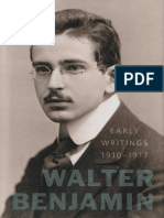 Walter Benjamin Early Writings 1910 1917
