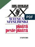 Wieslaw Mysliwski - Piatra peste piatra (v2.0).doc