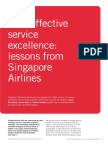 2004 - Cost - Effective Service Excellence - Lessons From Singapore Airlines
