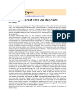 Cutting Interest Rate on Deposits